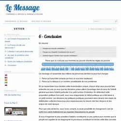 6 – Conclusion