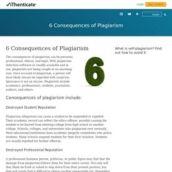 6 Consequences of Plagiarism