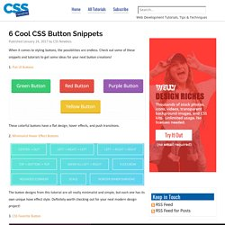6 Cool CSS Button Snippets