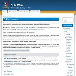 6. Escritura web