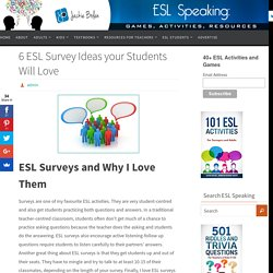 6 ESL Survey Ideas