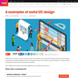 6 examples of awful UX design
