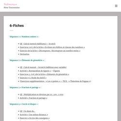 6-Fiches - Mathématiques