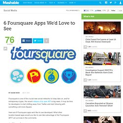 6Foursquare Apps We'd Loveto See