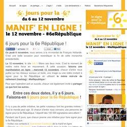 6 jours pour la 6e République !