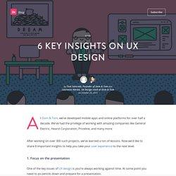 6 key insights on UX design