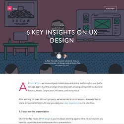 6 key insights on UX design