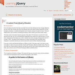 6 Latest Free jQuery Ebooks