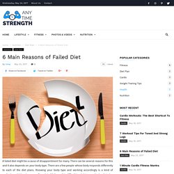6 Main Reasons of Failed Diet
