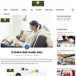 6 Online Side Hustle Jobs