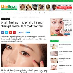 6 sai lầm hay mắc phải khi trang điểm phấn mắt làm mắt thật xấu