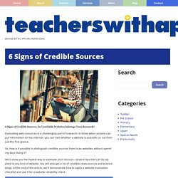 6 Signs of Credible Sources