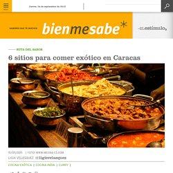 6 sitios para comer exótico en Caracas