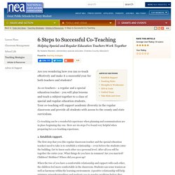 6 Steps to Successful Co-Teaching