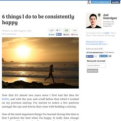 6 things I do to be consistently happy