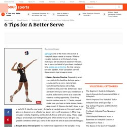 6 Tips for A Better Serve