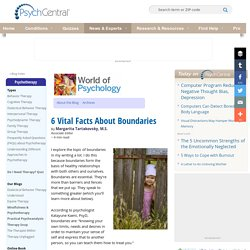 6 Vital Facts About Boundaries