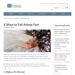 6 Ways to Fall Asleep Fast