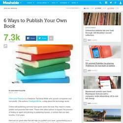 6 Ways to Publish Your Own Book