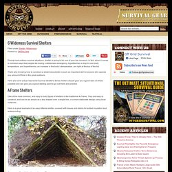 6 Widerness Survival Shelters