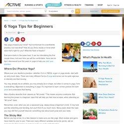 6 Yoga Tips for Beginners