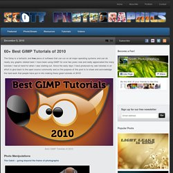 60+ Best GIMP Tutorials of 2010