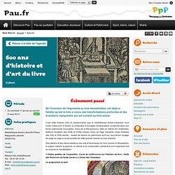 600 ans d'histoire et d'art du livre - Ville de Pau