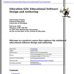 ED 626: Software Design and Authoring