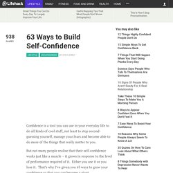 63 Ways to Build Self-Confidence