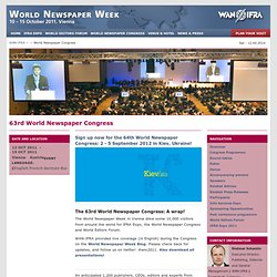 WAN-IFRA - World Newspaper Week - 2011 - 63rd World Newspaper Congress