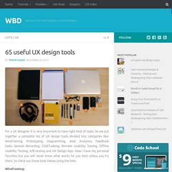 65 useful UX design tools - WBD