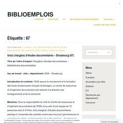Biblioemplois - offres dans le département 67