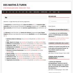 6e – Des maths à Turin