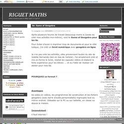 6e- Game of Geogebra - RIGUET MATHS