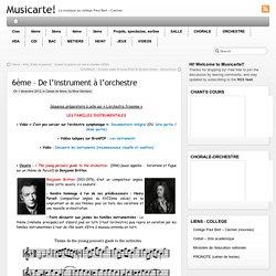 6ème – De l'instrument à l'orchestre