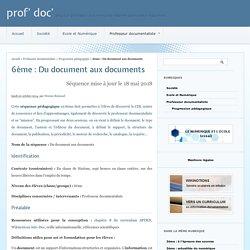 6ème : Du document aux documents