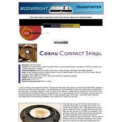 audioreviews: Cornu Compact Spiral