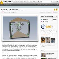 6x6x6 3D print: Delta CNC