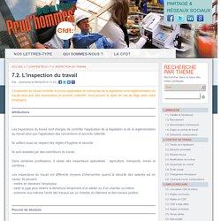 7.2. L'inspection du travail