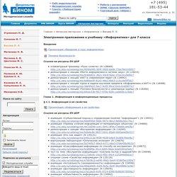Электронное приложение к учебнику «Информатика» для 7 класса