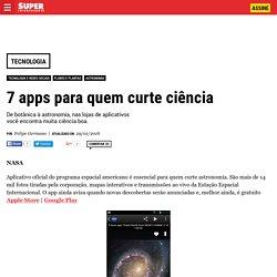 7 apps para quem curte ciência