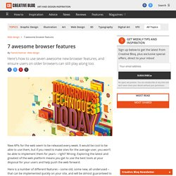 7 awesome browser features
