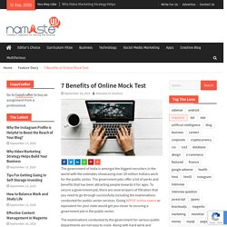 7 Benefits of Online Mock Test