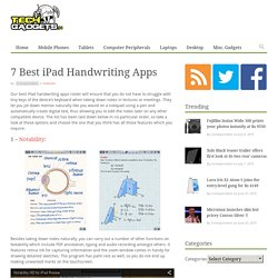 7 Best iPad Handwriting Apps