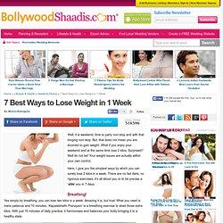 7 Best Ways to Lose Weight in 1 Week