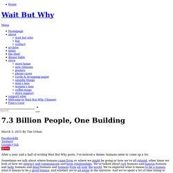7.3 Billion People, One Building