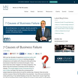 7 Causes of Business Failure