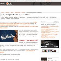 7 conseils pour décrocher de Facebook