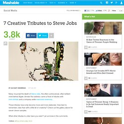 7 Creative Tributes to Steve Jobs