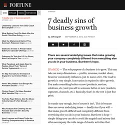 7 deadly sins of business growth